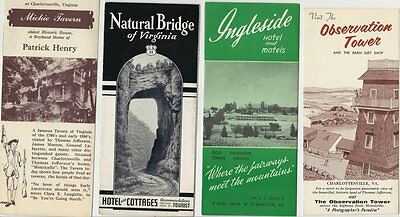 Lot of 4 Vintage State of Virginia Tourist Brochures - Great Condition