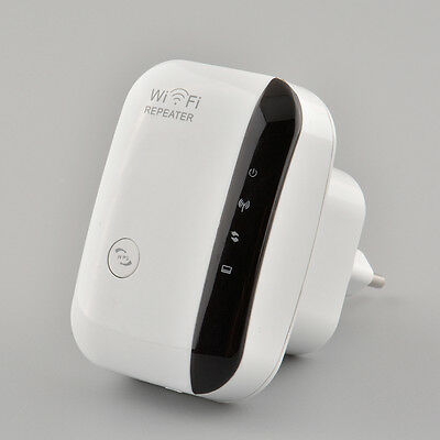 300Mbps WLAN Network Range Extender Wireless WiFi Signal Repeater Amplifier New