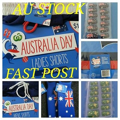 AUSTRALIA DAY FLAG SERIES Wine Cooler Ladies Mens Shorts Table Cover Nail Art