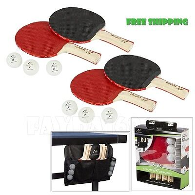 Professional Racket Classic 4-Player Table Tennis Ping Pong Paddles 6 Ball Set