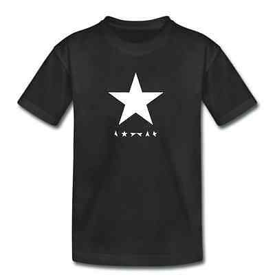 Kids DAVID BOWIE TShirt - Blackstar Black Star - Childrens Boys Girls