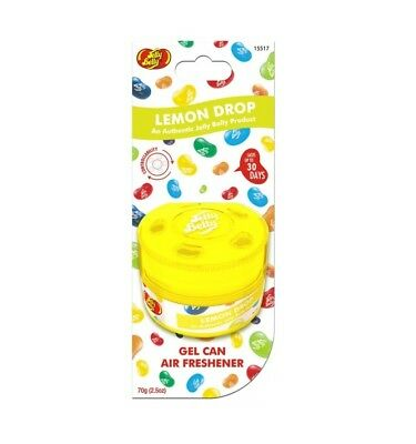 Lemon Drop Jelly Belly Bean Gel Can Car Home Air Freshener Sweet Smell Scent