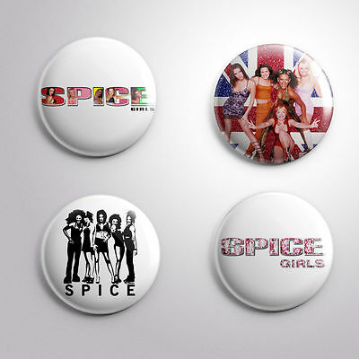4 SPICE GIRLS -  Pinbacks Badge Button 25mm 1''..