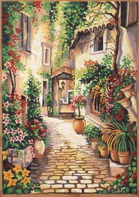Gobelin L Tapestry/Needlepoint Canvas - West Country Courtyard
