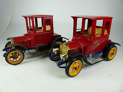 2x Gama 1500 Opel Stadt Coupe 1906 Oldtimer - Kunstoff / Diecast