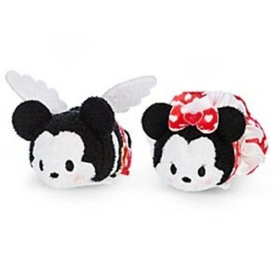 Disney Store Mickey & Minnie Mouse Tsum Tsum Valentine's Day Mini Duo Plush Set