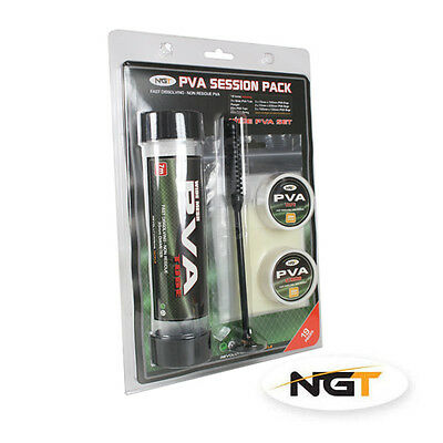 NEW NGT PVA Tackle Session Pack 19 Piece Wide PVA Tube Bags Tape & String PVA***