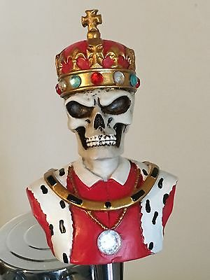 King of the Dead figural beer tap handle for kegerators! Brand New! Skull Zombie