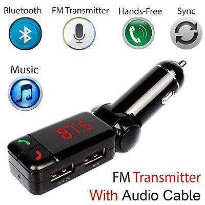 Super Slim Handsfree Wireless Built in Bluetooth Car Kit For Mobile Cell Phone