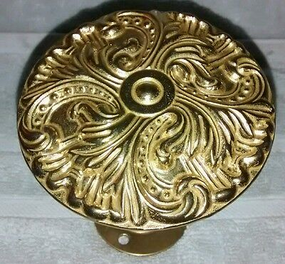 vintage Brass angled Wall Hook Knob Bathroom Towel Holder decorative antique