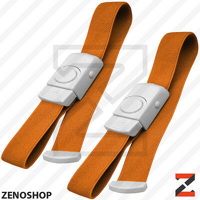 ABS 2pc First Aid Quick Release Buckle Tourniquet Medical Emergency EMT Orange