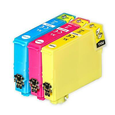 3 C/M/Y Ink Cartridges XL for Epson Expression Home XP-247 XP-335 XP-355 XP-445