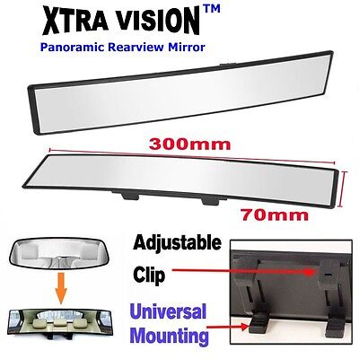 300mm XtraVision Car Rear View Mirror Convex Curve Interior Wide Blind Spot Safe