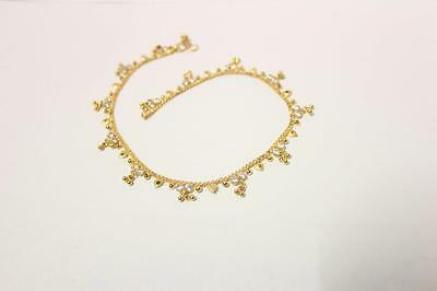 22ct/916 sparkling attractive indian gold anklet *Boxed*