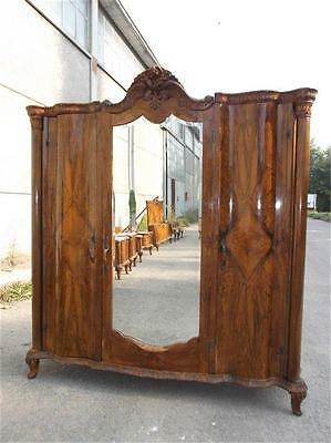 Beautiful Italian Chippendale Antique Walnut Armoire - 15It009A