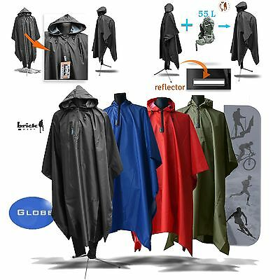 Bike Outdoor Cycling Raincoat Rain Cape Poncho Coat Rainproof Waterproof Brick