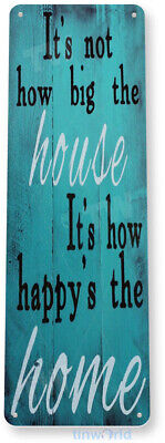 TIN SIGN Happy Home Metal Décor Art Store Shop Beach House Farm Cottage A980