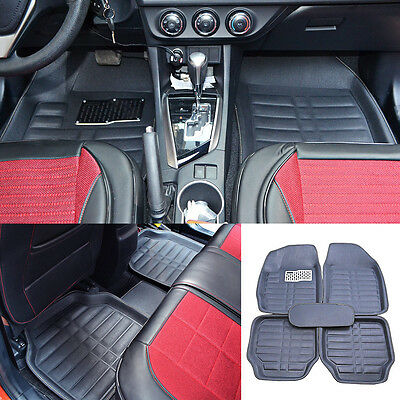 Universal All Weather Car Floor Mats FloorLiner 5pc Front & Rear Carpet Auto Mat