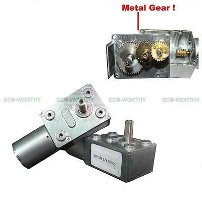 12V 10 rpm DC Geared Motor Metal Reduction Gear Box for Window Door Opener