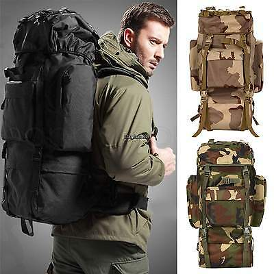 Military Tactical Backpack Hiking Camping Rucksack Outdoor Sport shoulder Bag US