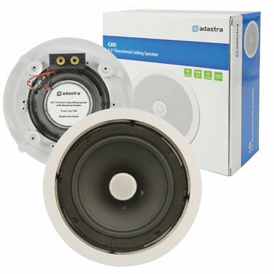 "Adastra C6D Ceiling Speaker With Directional Tweeter 100w 6.5"" Inch White"