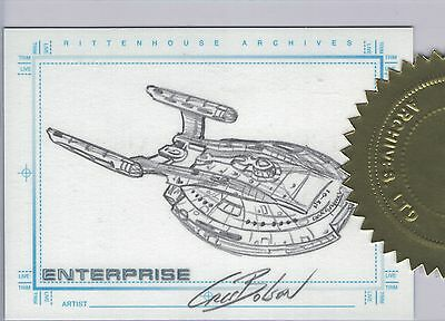 Star Trek Enterprise Season 1 Sketch Cris Bolson Case Topper Incentive card