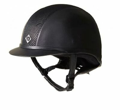 Charles Owen Leather Look AYR8 Riding Hat Helmet - PAS 015 and ASTM F1163