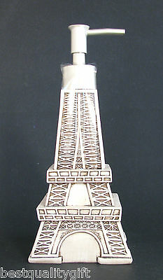 New Antique Ivory,White Eiffel Tower Kitchen,Bathroom Soap,Lotion Dispenser