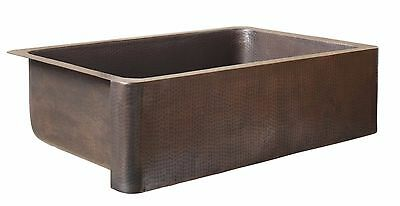 Sinkology 22-in x 33-in Antique Copper Commercial Kitchen Sink Apron Single-Bowl