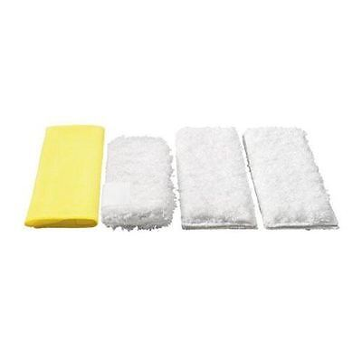 Karcher Set of 4 Premium Velour Micro-Fibre Cleaning Cloths For Steam Cleaners