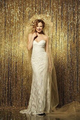"9ft SEQUINS PHOTOGRAPHY BACKDROP 54""X108"" DRAPE PANEL CURTAIN SPARKLY 3 Colors"