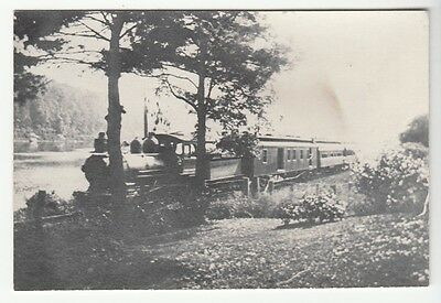[57997] Undated Photo Reproduction(?) Of A Train Engine And Passenger Cars