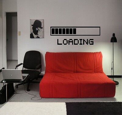 LOADING GAMING Vinyl Wall Decal Art Room Decor Sticker Word Lettering Quote