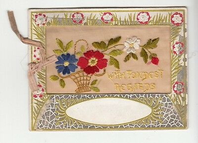 "[58004] Vintage Hand-Sewn Greeting Card ""with Fondest Regards"""