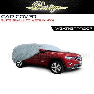 4WD SUV Car Cover Fits SMALL-MED SIZE 4x4 TO 4.65m Prestige 100% Waterproof