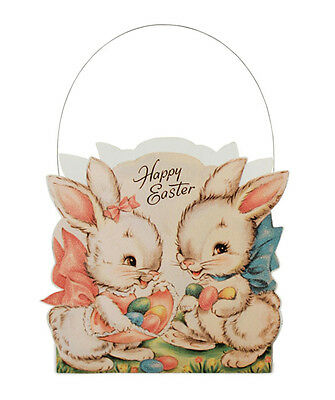Bethany Lowe Sweet Easter Bunnies Basket New 2016 LC5447