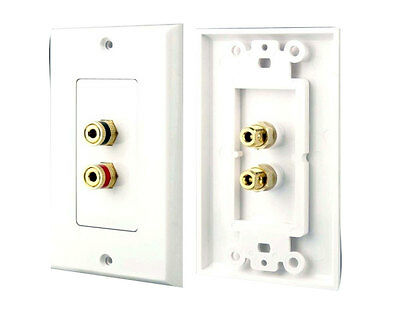 Pyle PHWP1 Dual Post Banana Plug Wall Plate (2 Posts/Polarity For 1 Speaker)