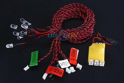 8-LED LED Flashing Light Bulb System for RC Helicopter Plane Glider boat Tool