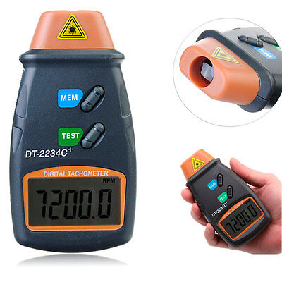 2.5 to 99,999 RPM DT2234C + Digital Laser Photo RPM Tachometer Non Contact Tool