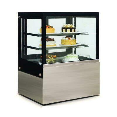 Commercial Display Fridge Cake Showcase 3 Layers 900mm length heated glass
