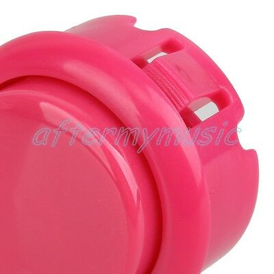 10x Pink Push Button Replace OBSF-30 Buttons Arcade Joystick 30mm Dia