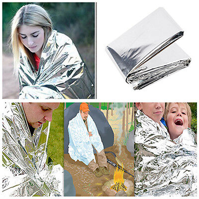 Waterproof Emergency Survival Rescue Space Foil Thermal Blanket First Aid Camp x