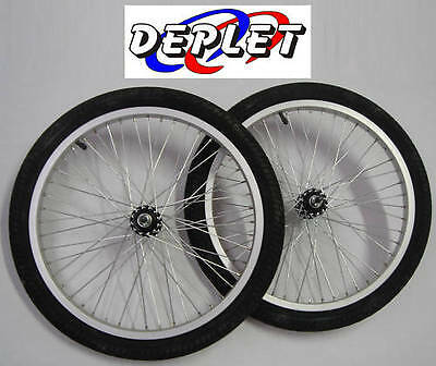 Set of 2 Wheels Front BMX 20 Inches Dirt Rim + Tire