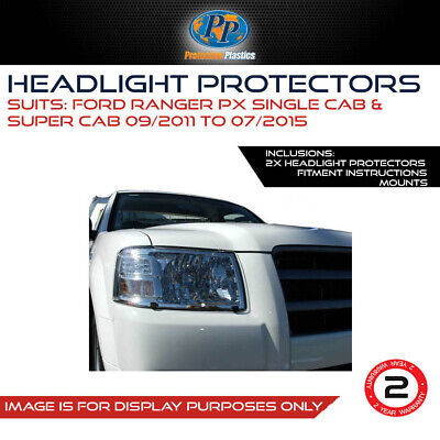 HEADLIGHT PROTECTOR TO SUIT FORD RANGER PX 11-15 LAMP COVERS CLEaR