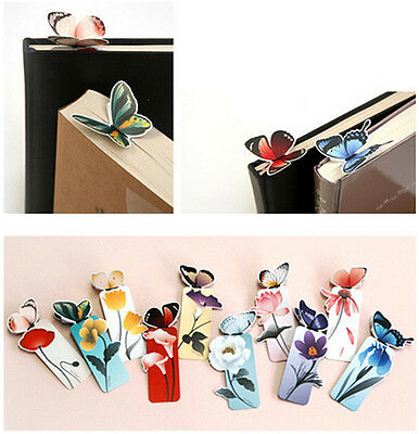 4X Creative Various Cute Style Butterfly Bookmark Note Pad Memo Stationery Gift