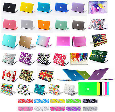 Laptop Matte Rubberized Hard Case Cover For Macbook Pro Retina 13/15 Air 11/13