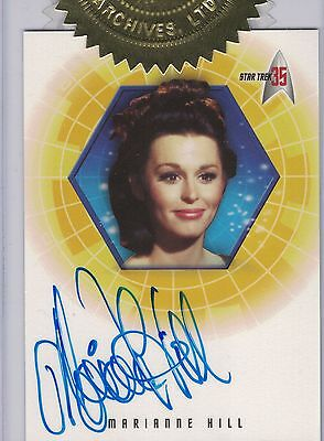 TOS 35th Anniversary:A33 Marianne Hill autograph Case Topper Incentive card