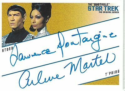 TOS Quotable:DQA2 Lawrence Montaigne & Arlene Martel Dual autograph