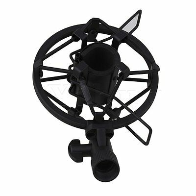 Black Small Diameter Condenser Mic Shock Mount Holder Vibration Cradle 22-24mm