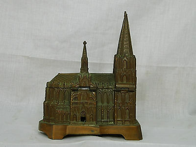 3 Kolner Dom Music Box Cologne Cathedral copper vintage Trinket Jewelry old